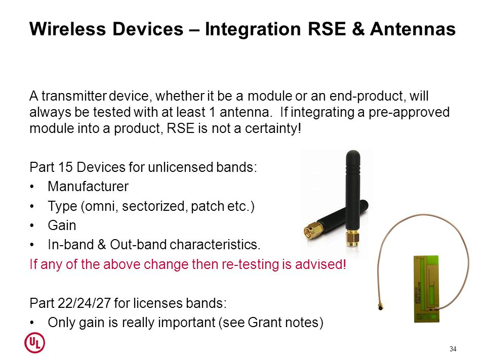 Wireless Devices – Integration RSE & Antennas