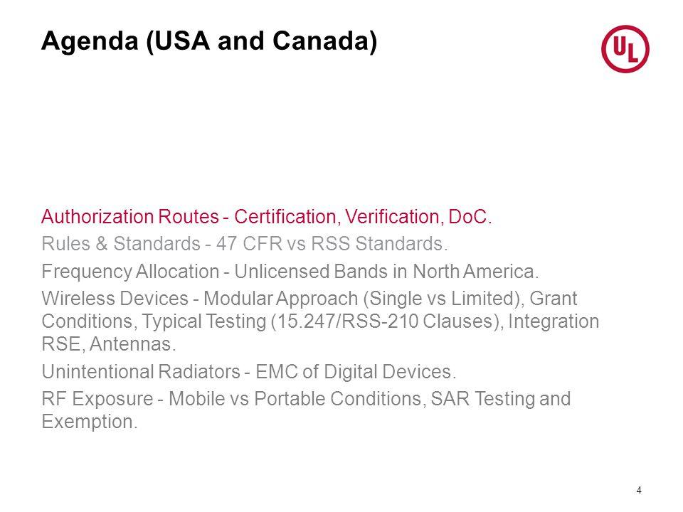 Agenda (USA and Canada)