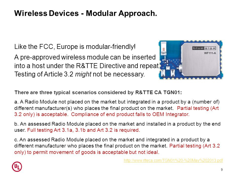 Wireless Devices - Modular Approach.