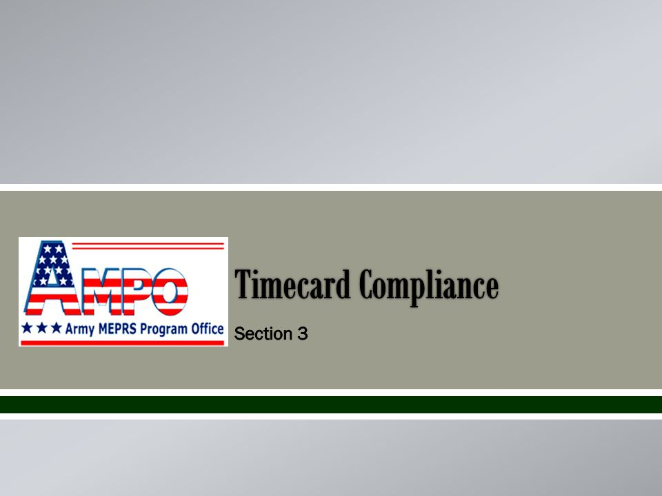 Timecard Compliance
