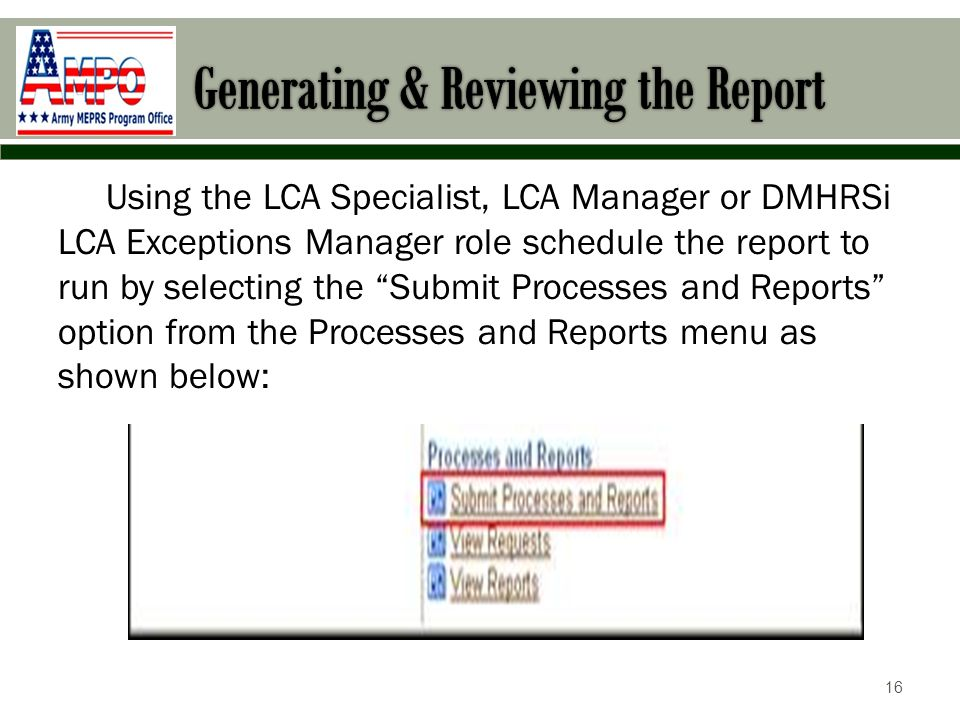 Generating & Reviewing the Report
