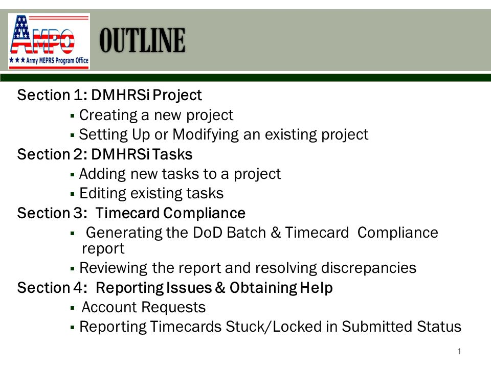 DMHRSi project Section 1