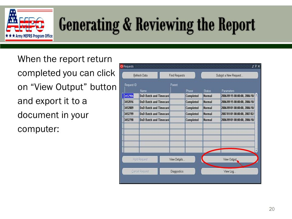 Review a current report