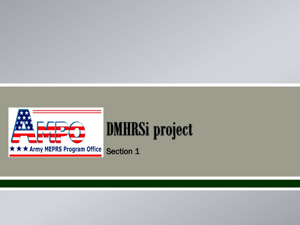 What is a DMHRSi Project