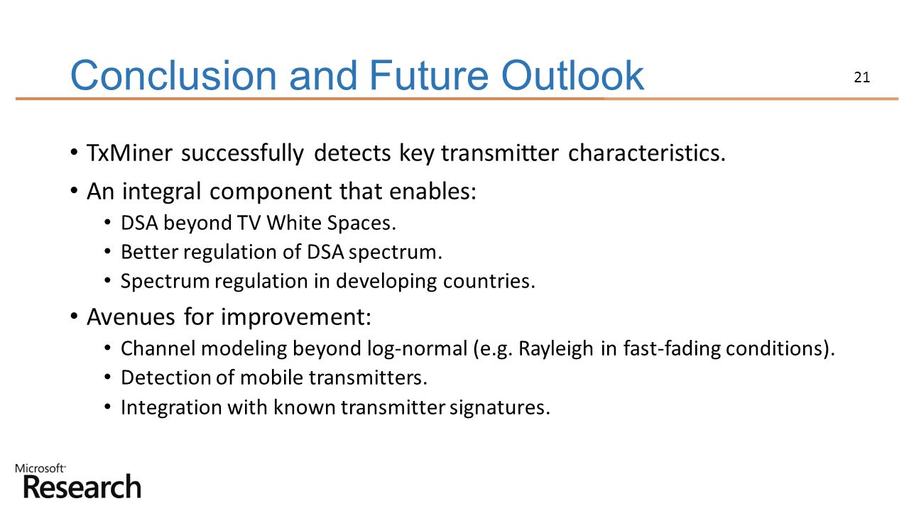 Conclusion and Future Outlook