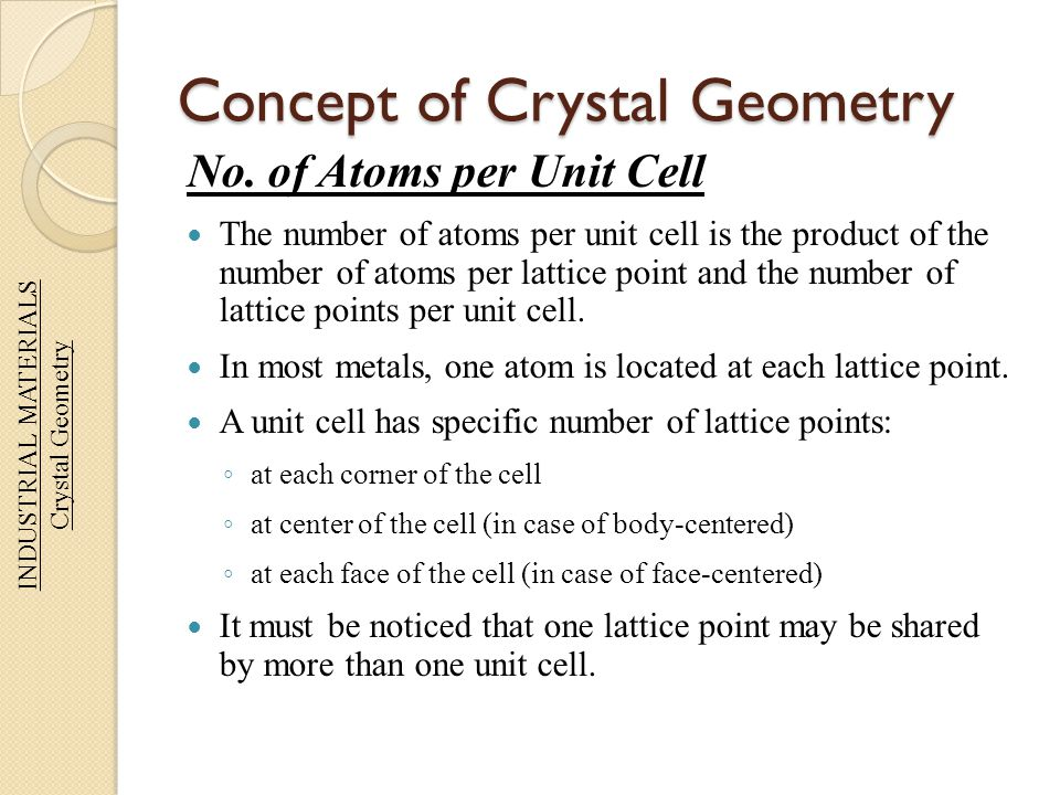 Concept of Crystal Geometry