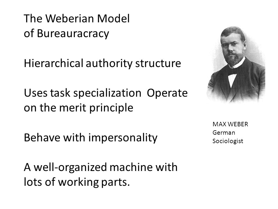 The Weberian Model of Bureauracracy