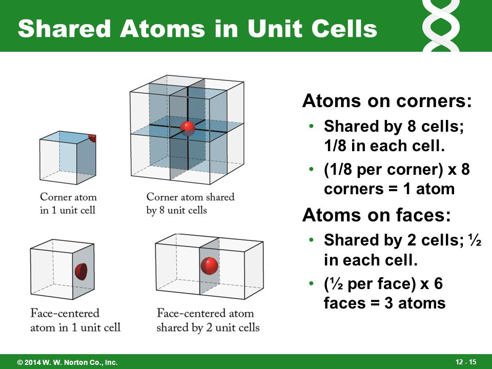 Shared Atoms in Unit Cells