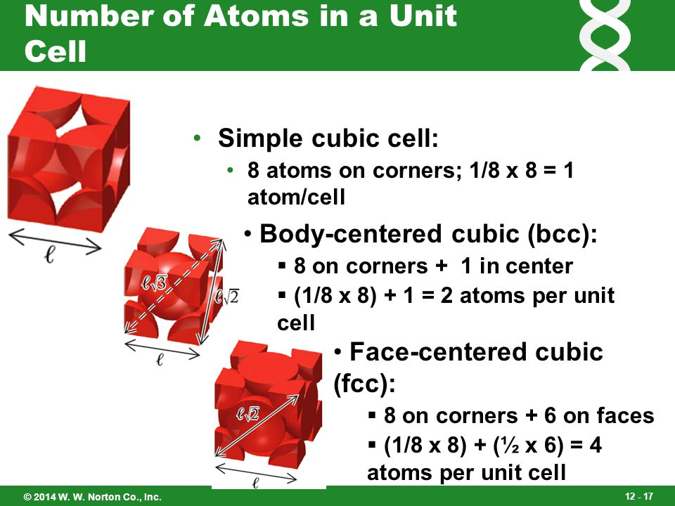Number of Atoms in a Unit Cell