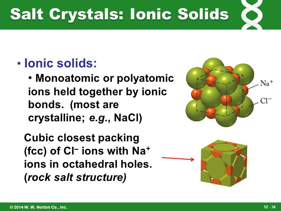 Salt Crystals: Ionic Solids