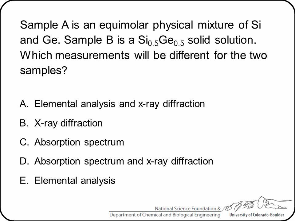 Sample A is an equimolar physical mixture of Si and Ge