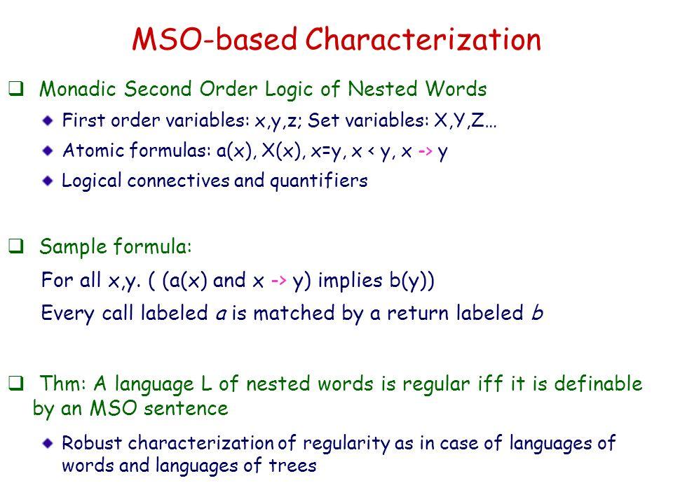 MSO-based Characterization