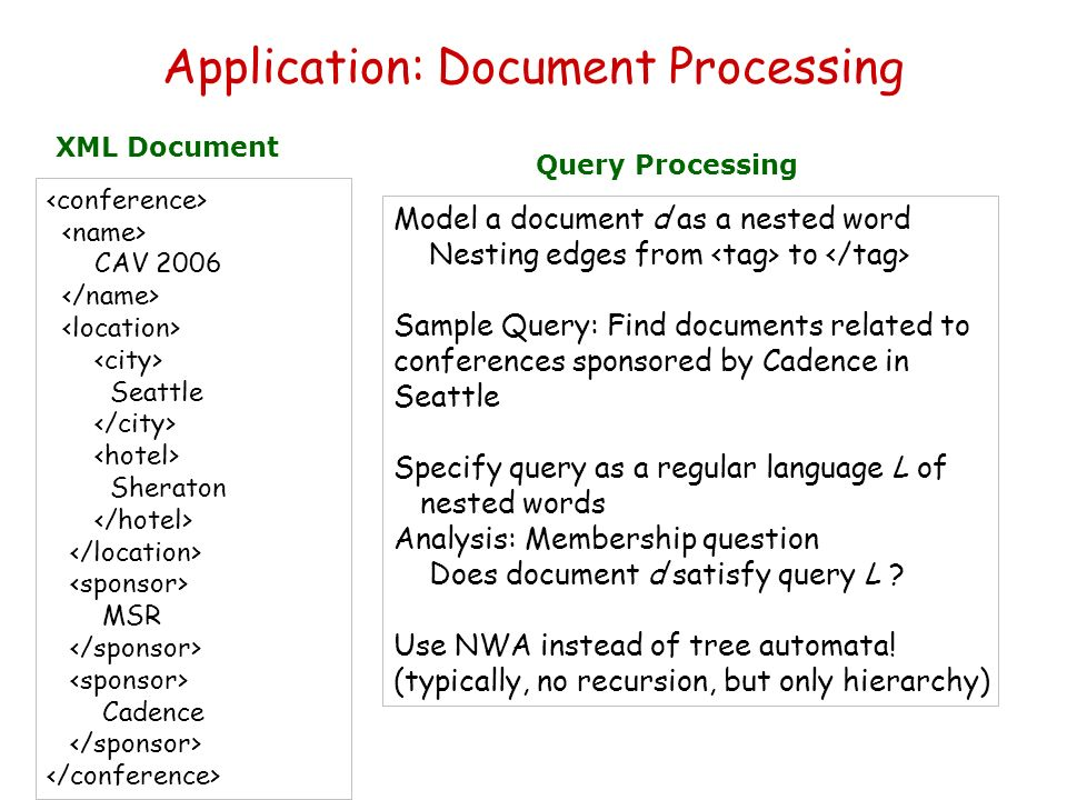 Application: Document Processing