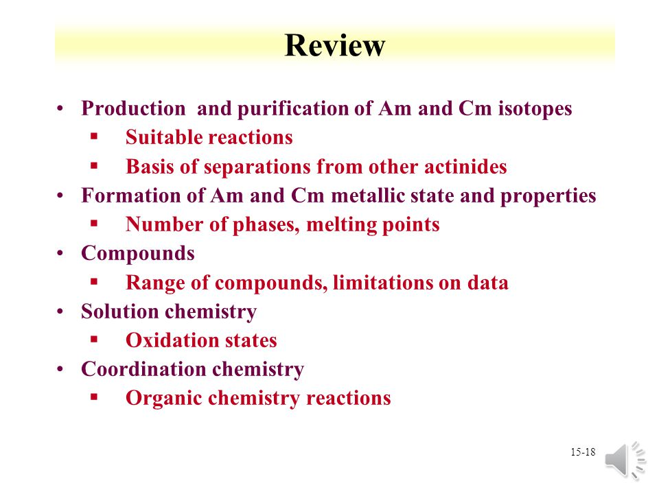 Review Production and purification of Am and Cm isotopes