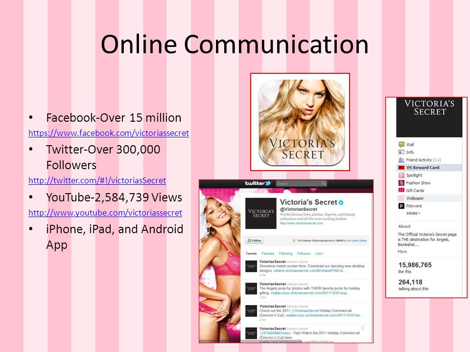 Online Communication Facebook-Over 15 million