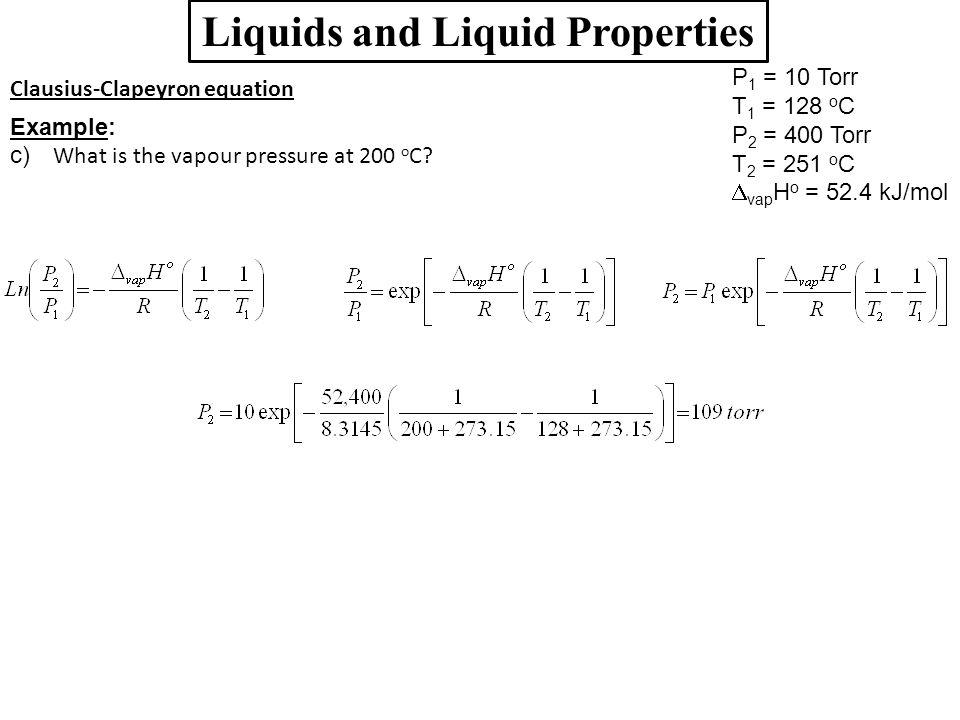 Liquids and Liquid Properties