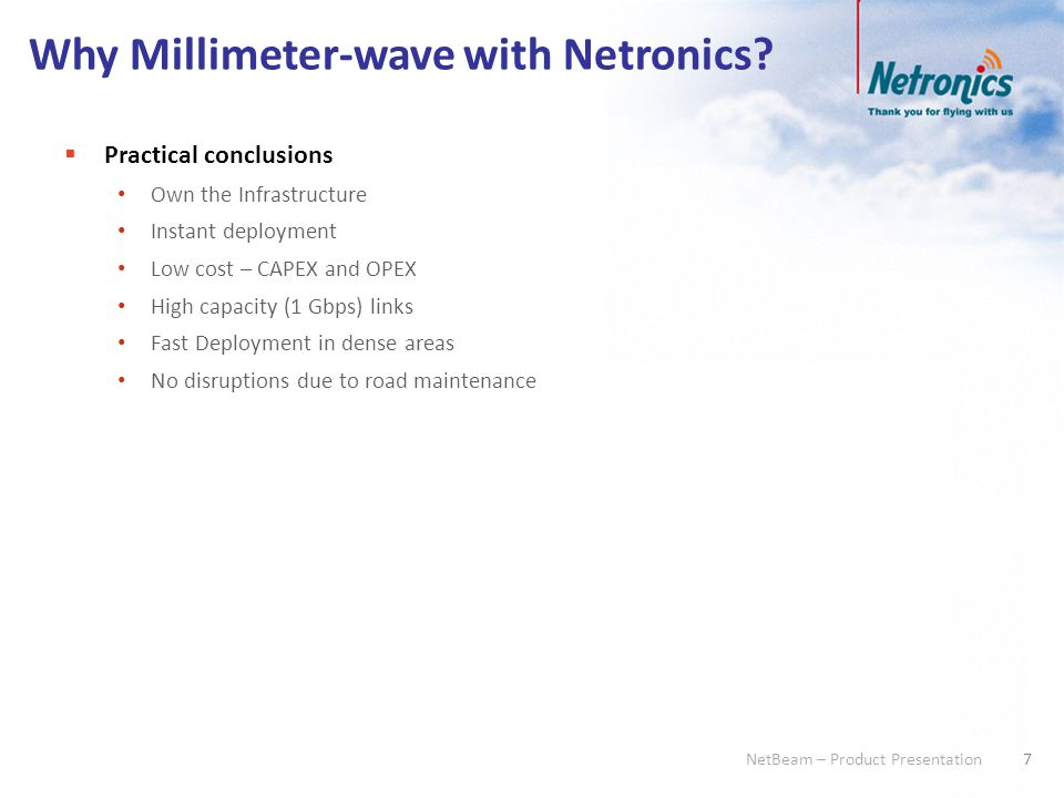 Why Millimeter-wave with Netronics