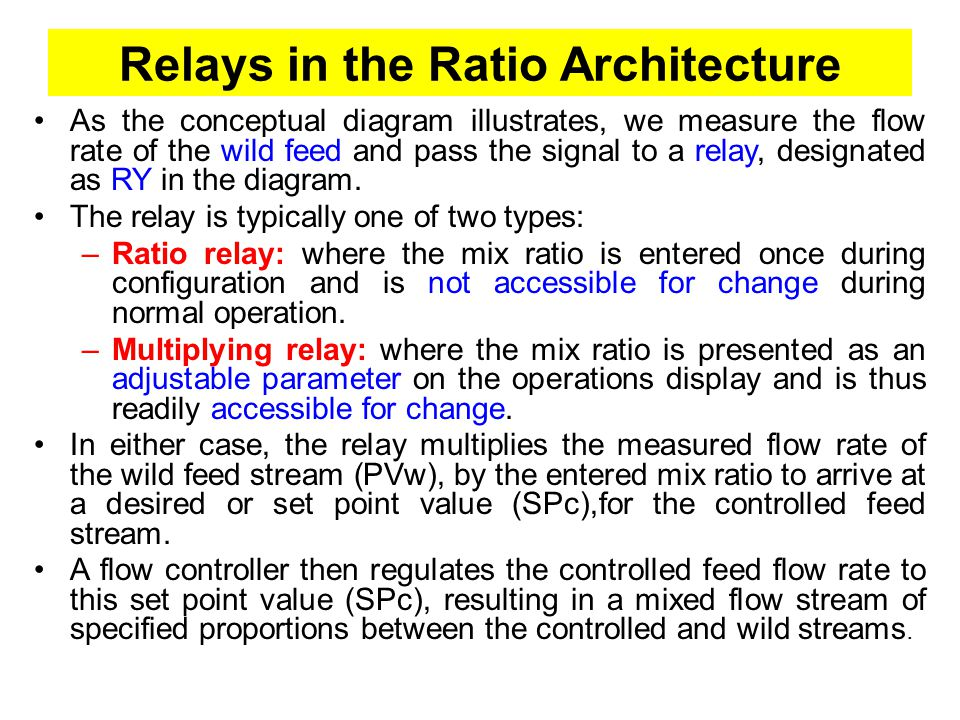 Relays in the Ratio Architecture