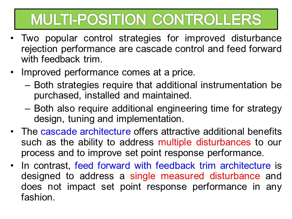 MULTI-POSITION CONTROLLERS