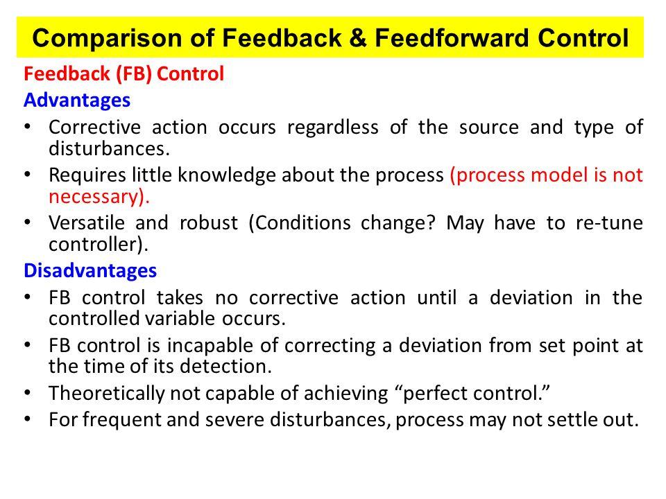 Comparison of Feedback & Feedforward Control
