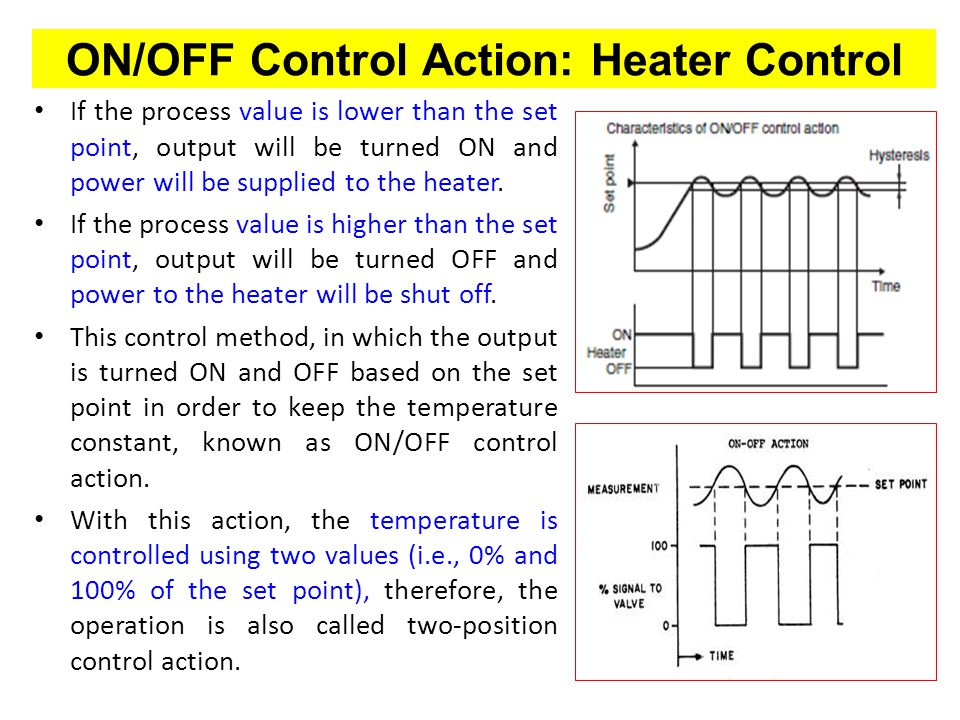 ON/OFF Control Action: Heater Control