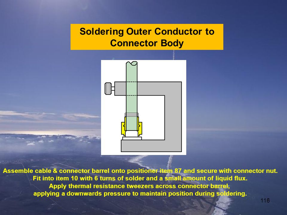Soldering Outer Conductor to Connector Body