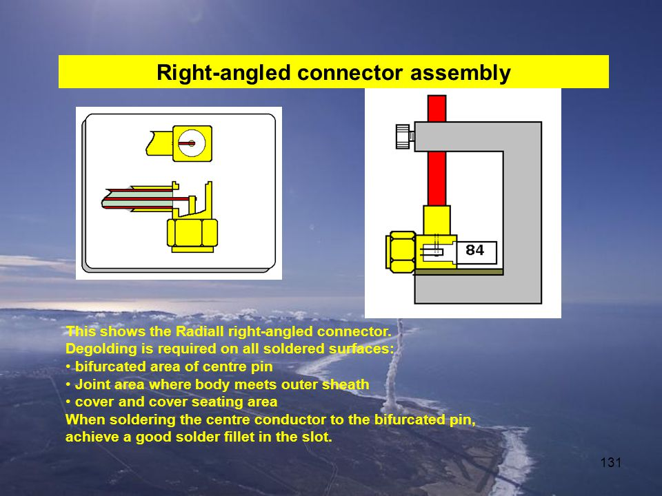 Right-angled connector assembly