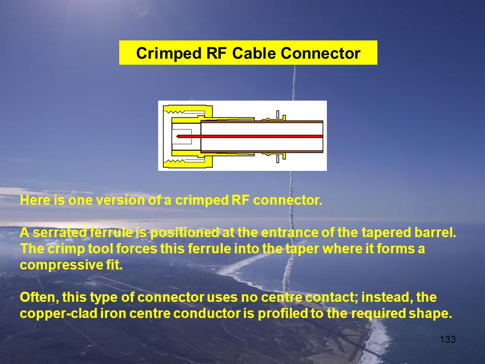 Crimped RF Cable Connector