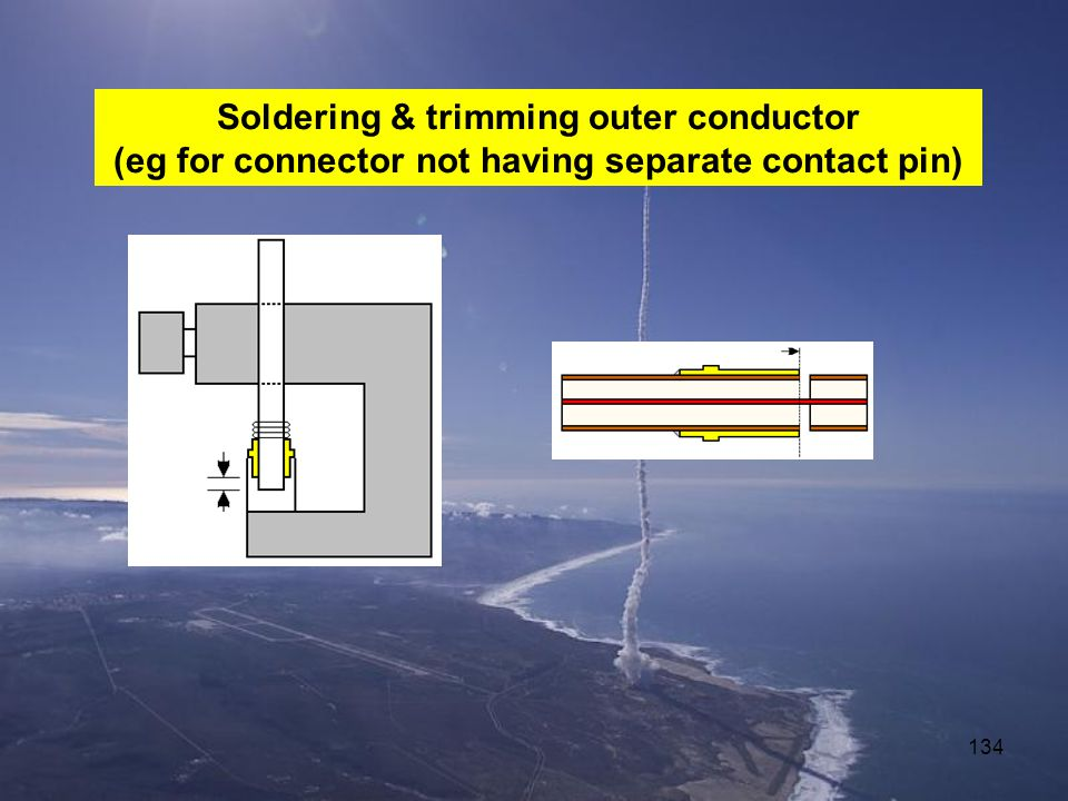 Soldering & trimming outer conductor