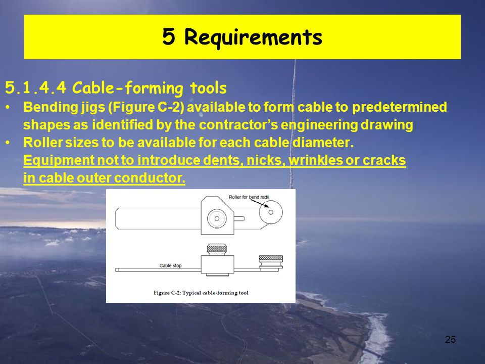 5 Requirements 5.1.4.4 Cable-forming tools