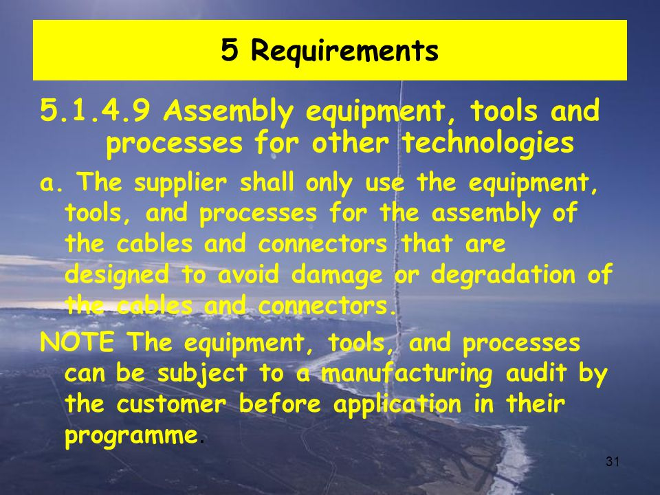 5.1.4.9 Assembly equipment, tools and processes for other technologies