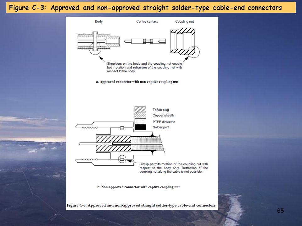 Figure C-3: Approved and non-approved straight solder-type cable-end connectors