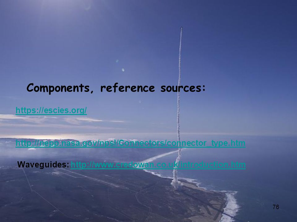 Components, reference sources: