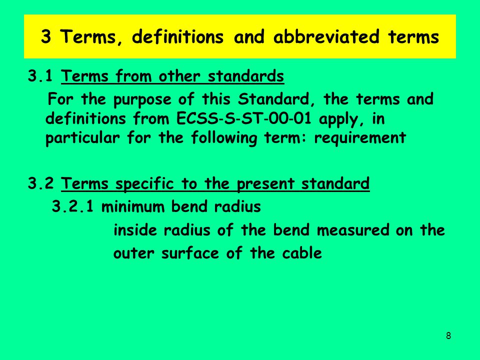 3 Terms, definitions and abbreviated terms