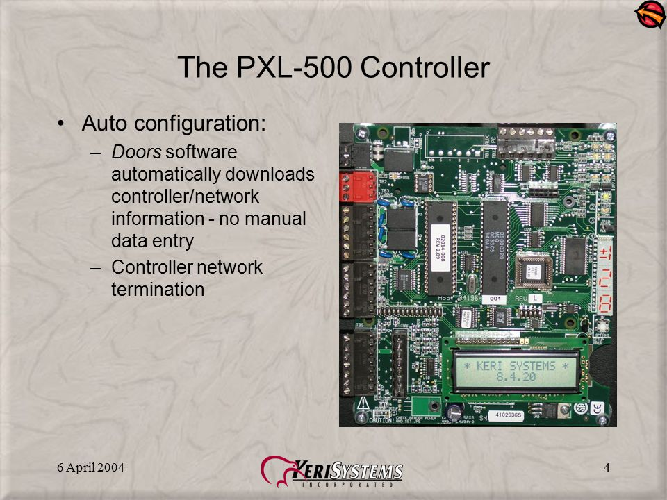 The PXL-500 Controller Auto configuration: