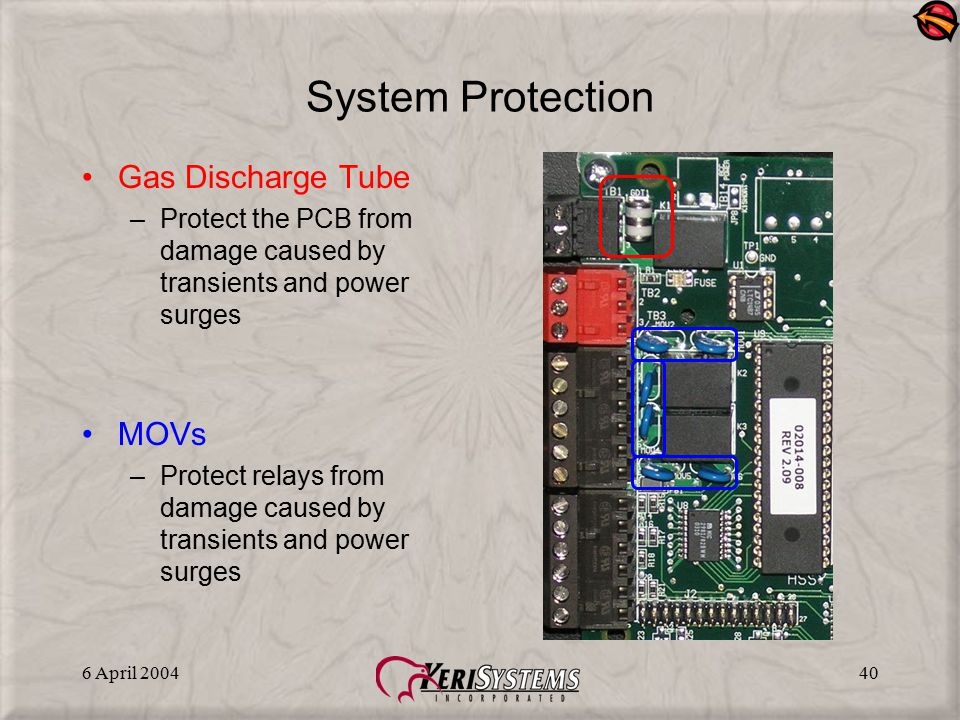 System Protection Gas Discharge Tube MOVs