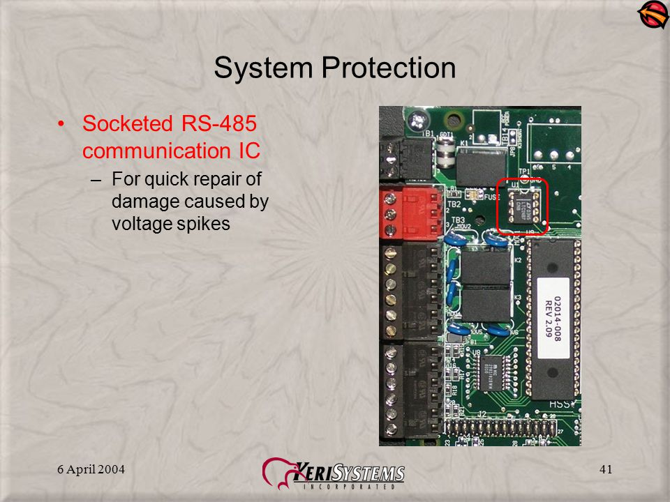 System Protection Socketed RS-485 communication IC
