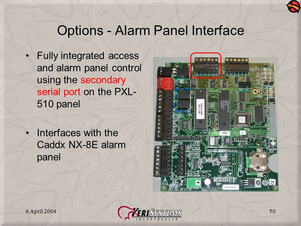 Options - Alarm Panel Interface