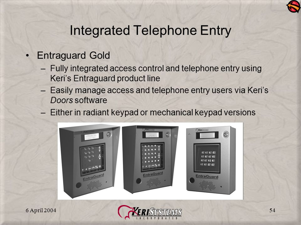 Integrated Telephone Entry