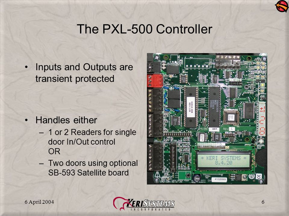 The PXL-500 Controller Inputs and Outputs are transient protected