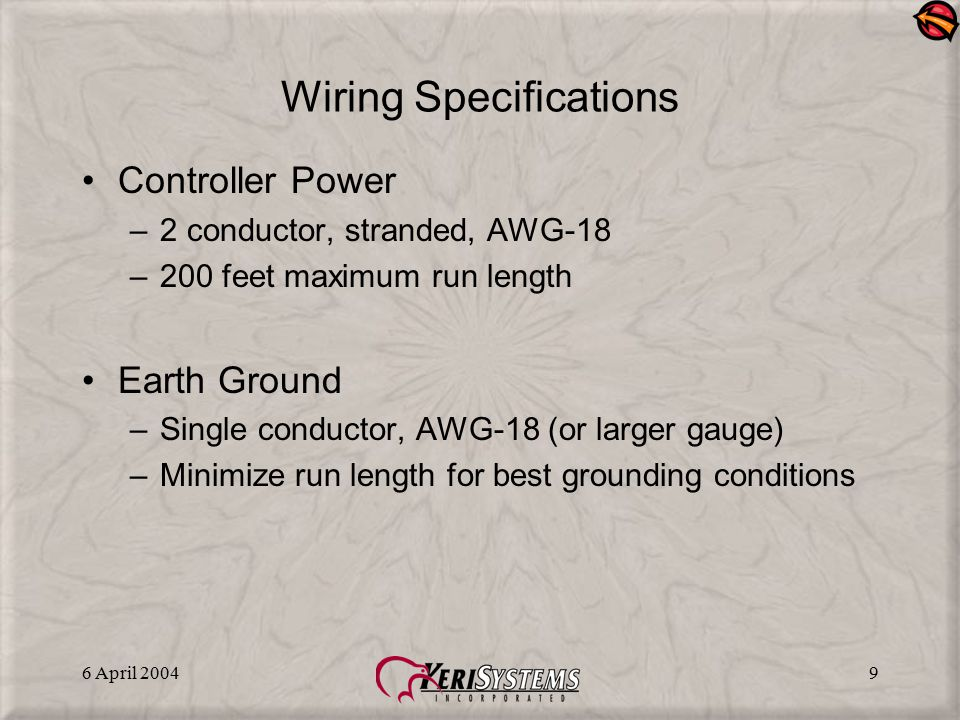Wiring Specifications