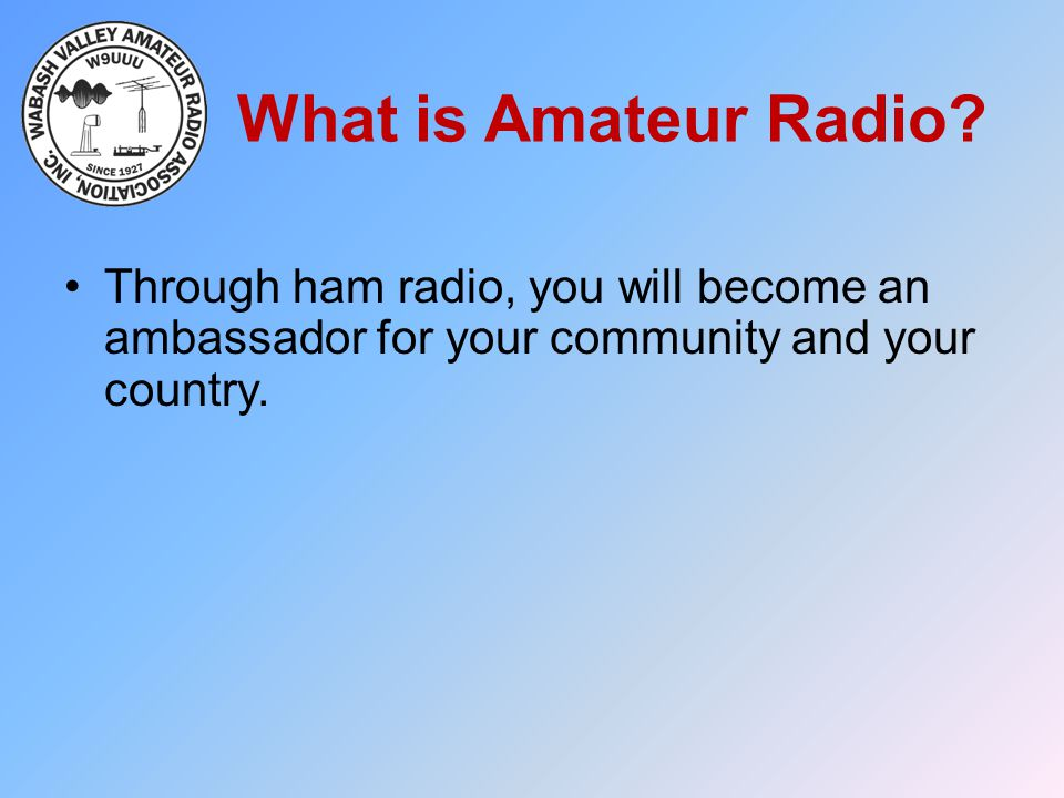 What is Amateur Radio.