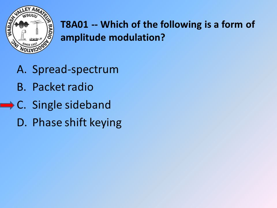 T8A01 -- Which of the following is a form of amplitude modulation