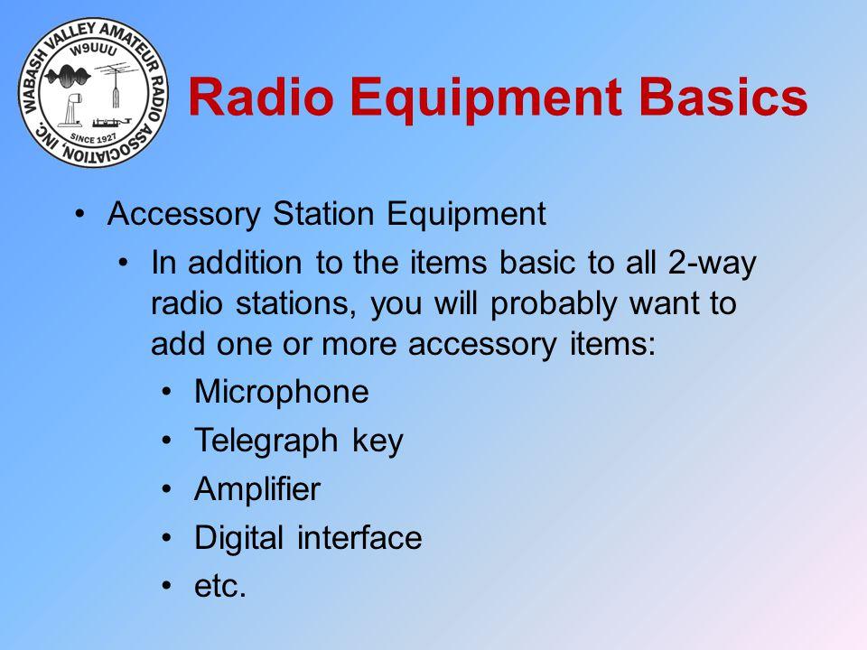 Radio Equipment Basics