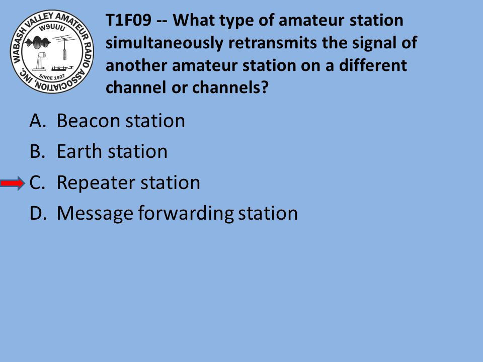 Message forwarding station