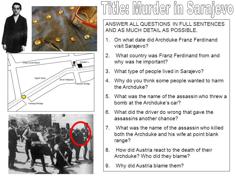 Title: Murder in Sarajevo