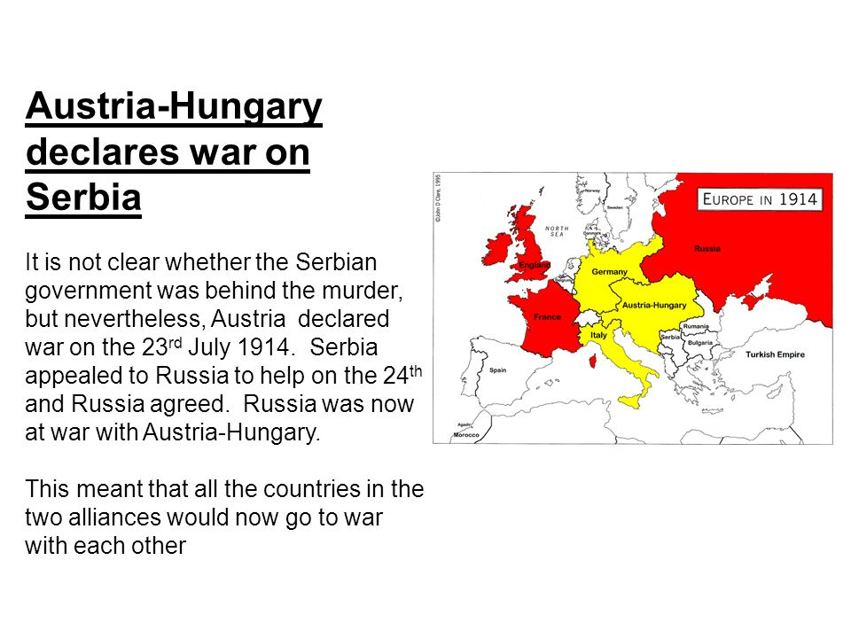 Austria-Hungary declares war on Serbia