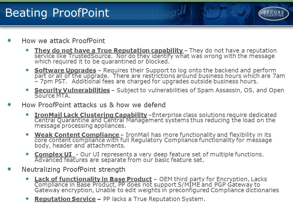 Beating ProofPoint How we attack ProofPoint