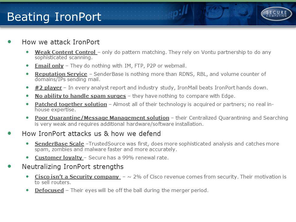 Beating IronPort How we attack IronPort