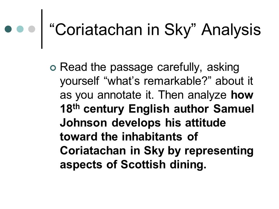 Coriatachan in Sky Analysis